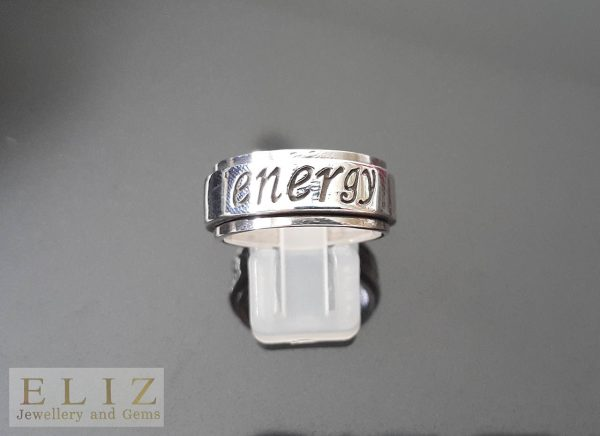 Energy Spinner .925 Sterling Silver Ring  Anti Stress Fidget Meditation Kinetic  9'