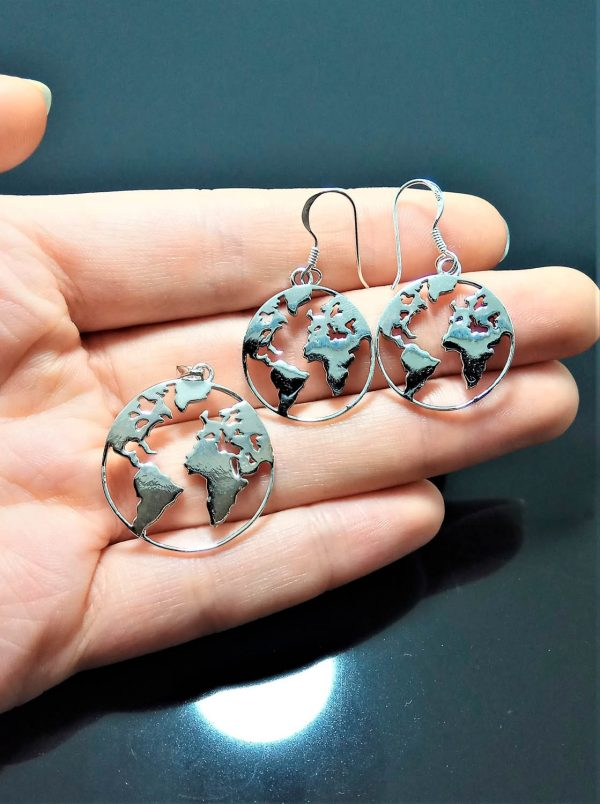 Geography Teacher Gift Travel Gift Geography Jewelry Globe Jewelry Earrings Gift Globe Earrings Globe Gifts World Traveler Gifts