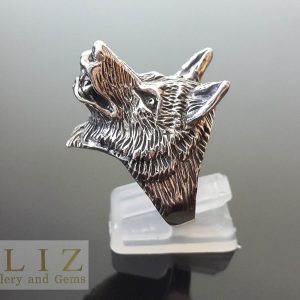 Wolf 925 Sterling Silver RING Wolf Totem Animal Biker Punk Rocker Goth Talisman Amulet
