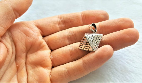 925 Sterling SILVER Egyptian Pyramid Ancient SACRED SIGNS Talisman Amulet Gift