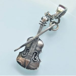 Violin Pendant Sterling Silver 925 Musical Instrument Music Musician Gift Tailisman Classic Music