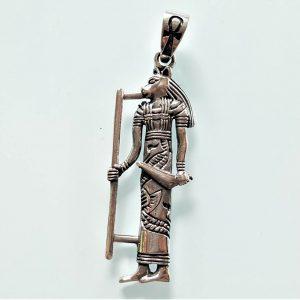 925 Sterling Silver Pendant BASTET Goddess of Egypt Cat Egyptian Ankh Sacred Symbol Talisman Amulet Handmade