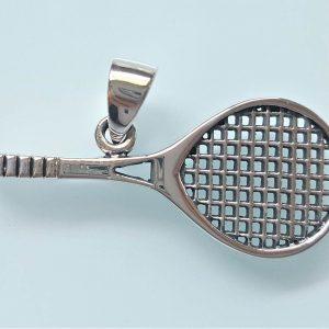 Tennis Racket Pendant STERLING SILVER 925 Good Luck Talisman Gift Tennis Player