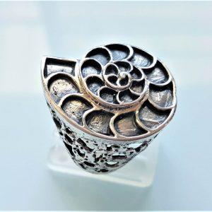 Nautilus Ring STERLING SILVER 925 Sea Shell Ocean Talisman Nauticul Handmade