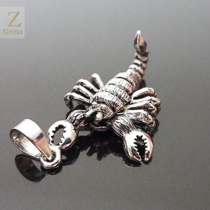 Scorpion Pendant 925 Sterling Silver 3D Moving legs Scorpio Horoscope Zodiac