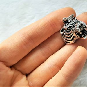 TIGER Pendant 925 Sterling Silver Big Cat Unisex Exclusive Design Talisman Anilmal 15 grams