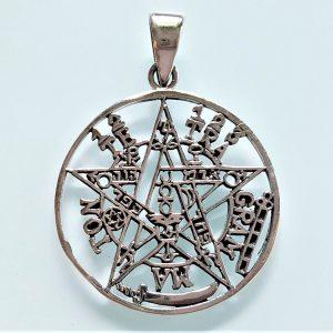 Tetragrammaton Pendant 925 Sterling Silver Pentagram Star Solomon Seal Sacred Symbols Talisman Protective Amulet Exclusive