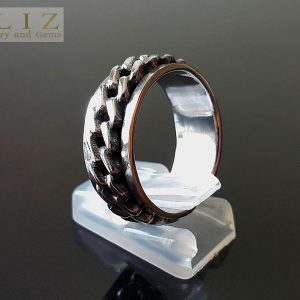 Spinner Ring 925 Sterling Silver Unisex Spinner Anti Stress Fidget Meditation Kinetic