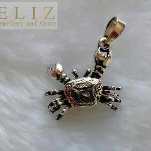 Crab Pendant 925 Sterling Silver Cancer Zodiac Crab CHARM legs/claws movable Talisman