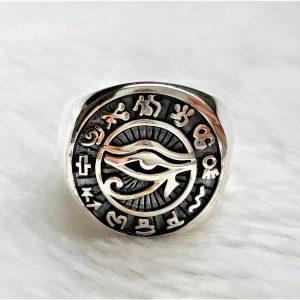 Eye of Horus Ring STERLING SILVER 925 Ancient Egyptian Symbols Sacred Symbols Protection Talisman Amulet Udjat Wadjet