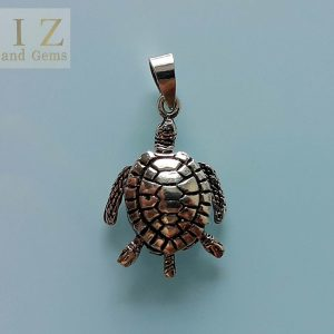 Sea Turtle Sterling Silver 925 Pendant Cute Movable Legs&Tail