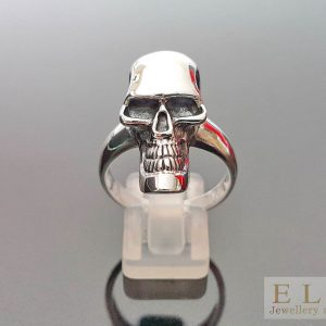 925 Sterling Silve Alien Skull Ring 9' 9.5' 10'