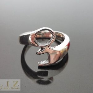 Twisted Wrench Ring 925 Sterling Silver Ring Biker Ring