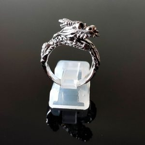 Dragon Ring Solid Sterling Silver 925 Ancient Creature