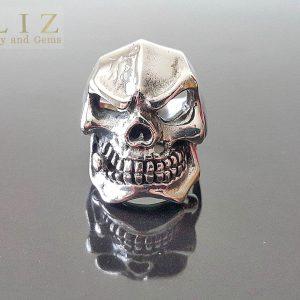 Skull Ring 925 Sterling Silver Gangster Mafia Mob Boss Skull punk goth biker rocker