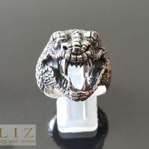 16 Gram Python Mamba Snake .925 Sterling Silver Ring 9.5' 10' 10.5' 11'
