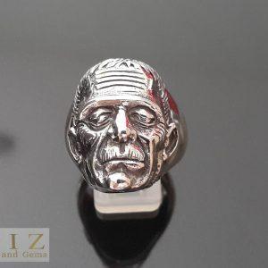 23 Gram's Frankenstein Munster's Van Helsing .925 Sterling Silver Ring 10.5' 11'