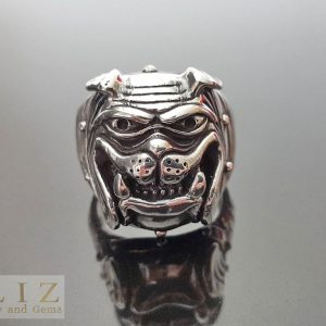 23.8 Gram's British Bulldog .925 Sterling Silver Ring 10.5' 11' 11.5' 12'