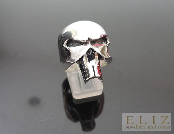 20 Gram's The Punisher Skull .925 Sterling Silver Punk Rocker Goth Biker Ring 7'7.5'8'8.5'9'9.5'10'10.5