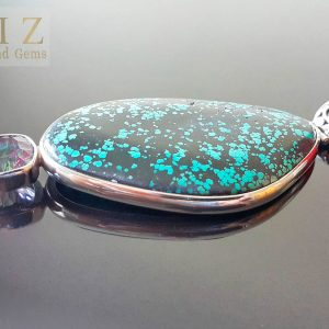 Giant Exclusive Custom made Pendant Turquoise Gemstone & Mystic Quartz 60 grams Natural Gemstones