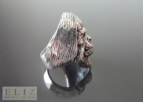 20.7 Grams Planet of The Apes Dr Zaius .925 Sterling Silver Ring 11'
