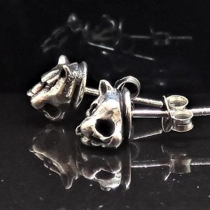 Panther Stud Earrings STERLING SILVER 925 Wild Cat Totem Animal