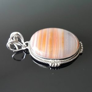 Natural CARNELIAN Sterling Silver Pendant Talisman Amulet Red Gemstone Genuine