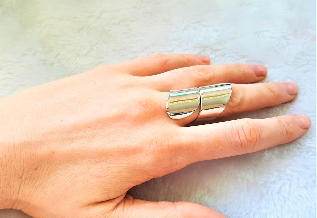 Knuckle Ring STERLING SILVER 925 Full Finger Ring Gothic Biker Rocker Exclusive Gift