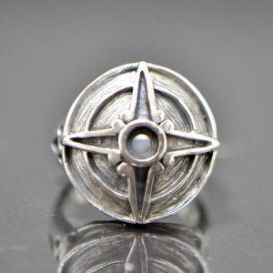 Eliz 925 Sterling Silver Northern Star Ring