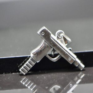 Eliz .925 Sterling Silver Pendant Uzi Mac10 Machine Gun Brutal Men's Gift Exclusive Handmade 16.5 Grams