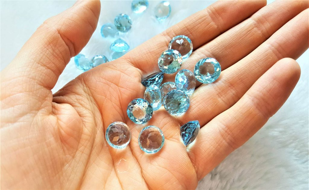 Details about  /Lovely Lot Natural Sky Blue Topaz 10X12 mm Oval Faceted Cut Loose Gemstone