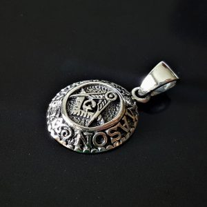 Eliz 925 Sterling Silver MASTER MASON Pendant Illuminati Masonic Symbols G letter Sacred Symbols